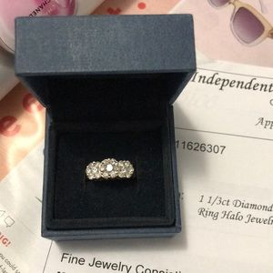 14k yellow gold ring with 1.2ct white diamond